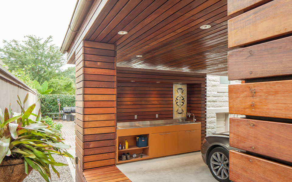 Modern Carport With Storage : Carport for a private residence — studiowta